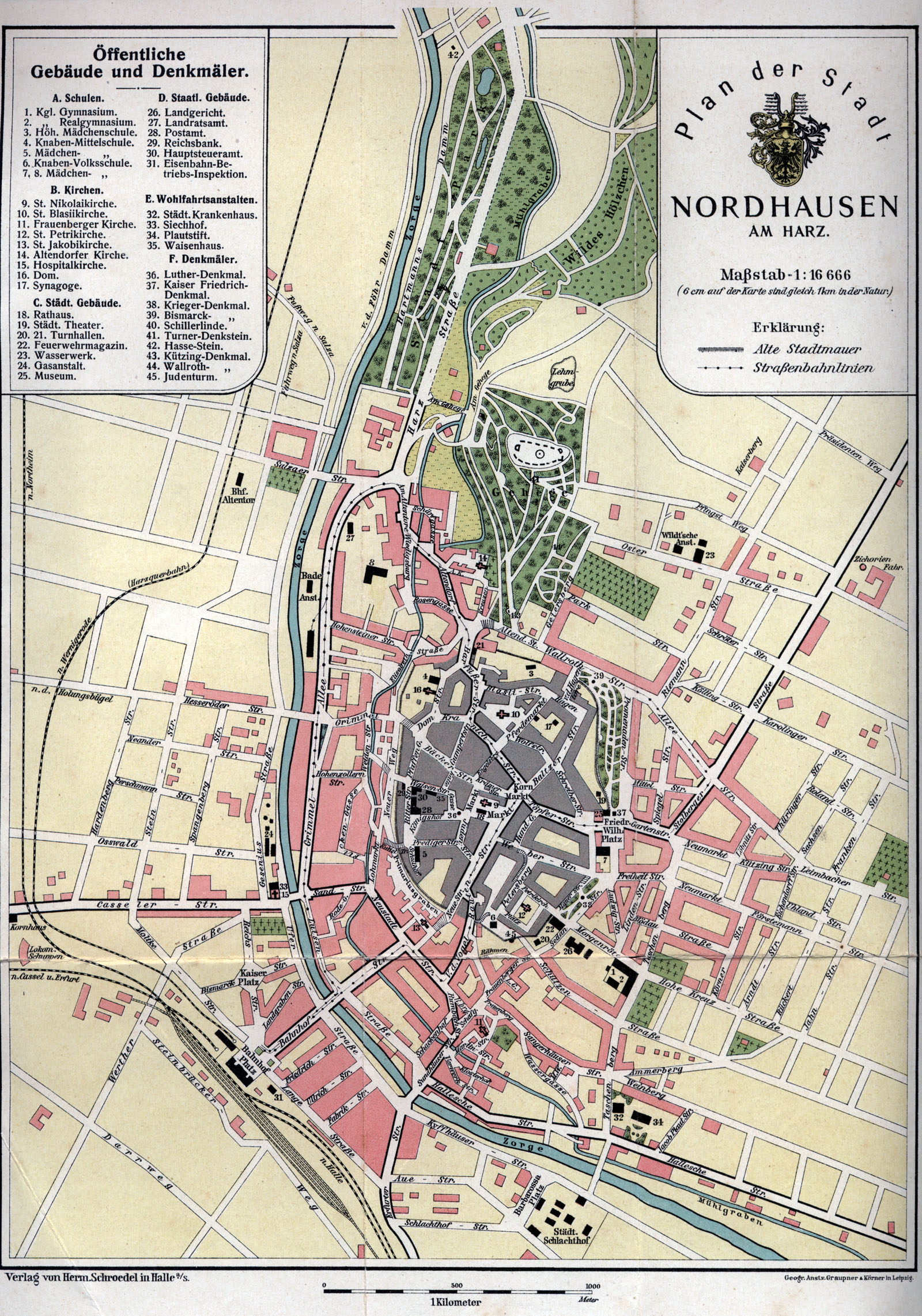 Nordhausen Karte.Datei Stadtplan Nordhausen 1914 Jpg Nordhausenwiki