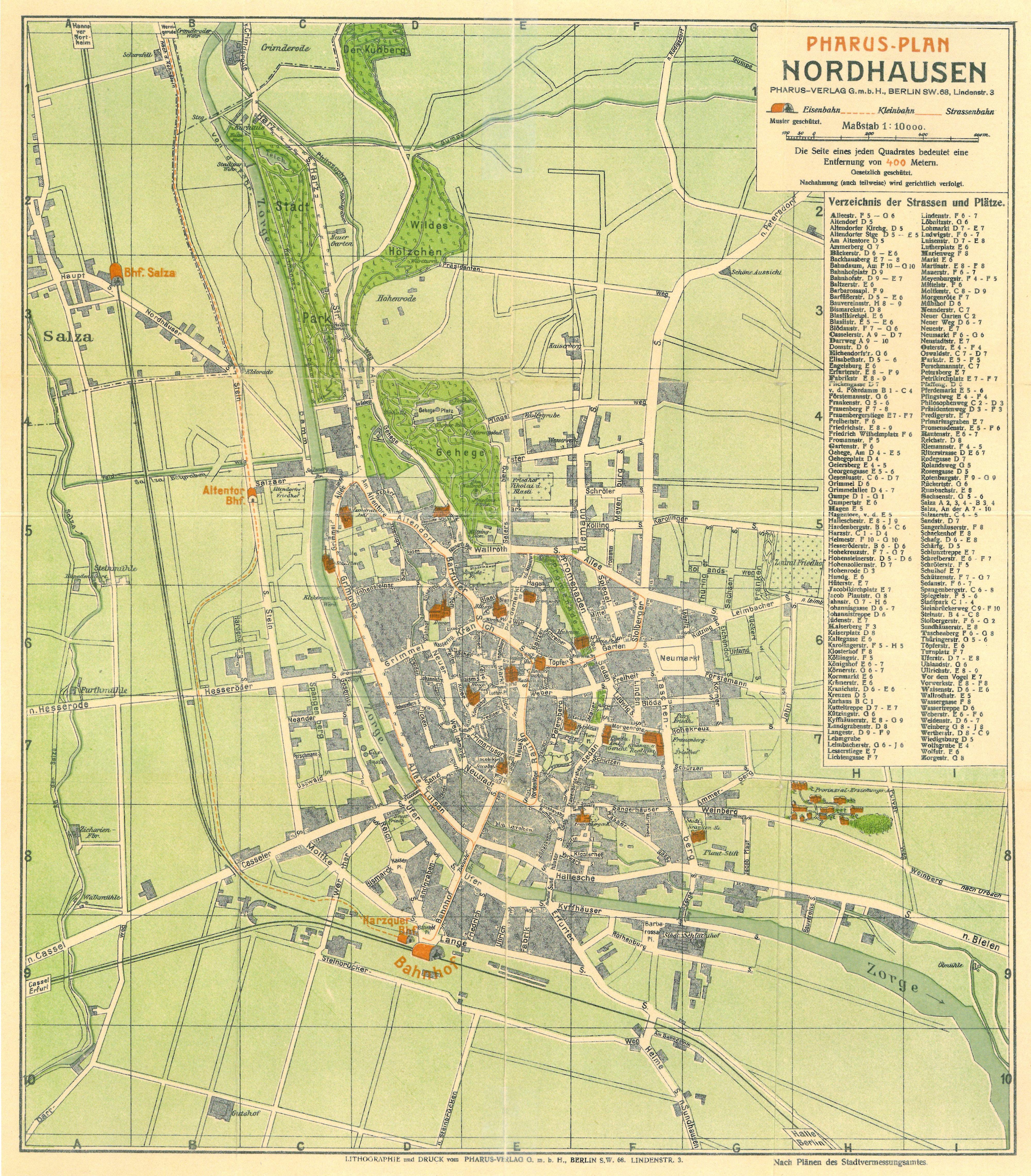 Datei:Stadtplan Nordhausen 1910.jpg – NordhausenWiki