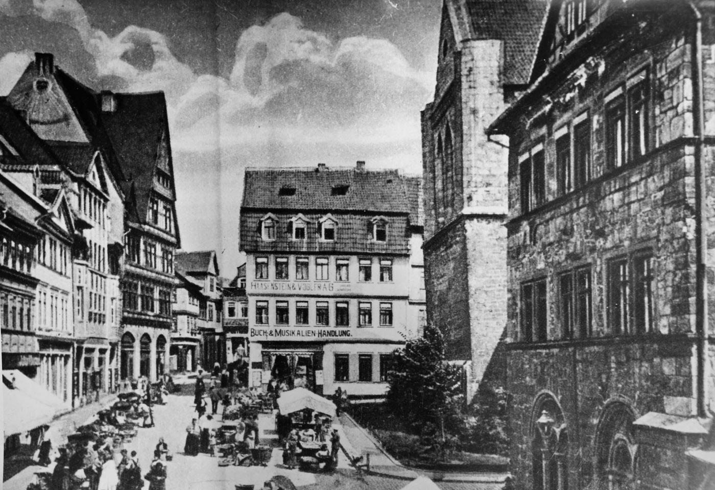Datei Markt Nordhausen Rathaus Nikolaikirche